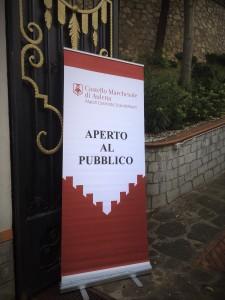 Il Castello Marchesale aperto al pubblico durante la festa del Carciofo Bianco